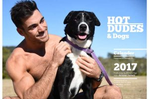 HOT GUYS AND DOGS CALENDAR 2017