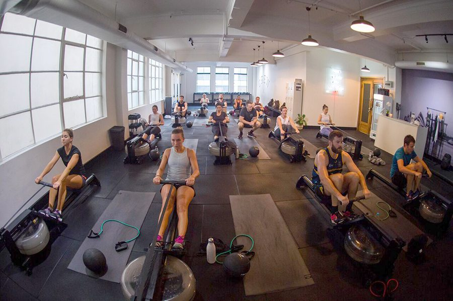 Indoor rowing new workout