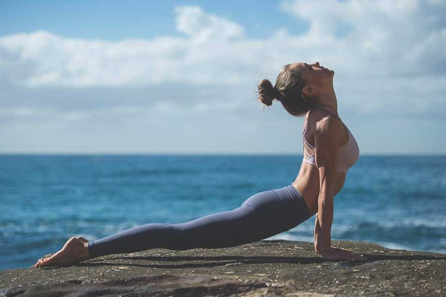 Yoga poses to an energy burst
