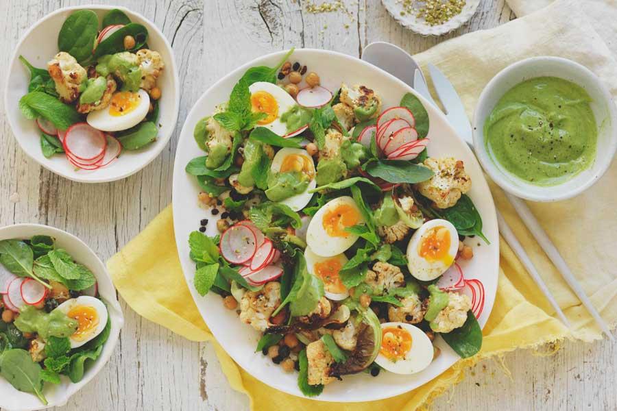 Roast-Cauliflower-and-egg-salad